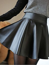 Women's Small Leather Skirt Pleated Skirts