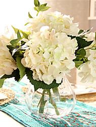 cinco hyfrangeas brancas artificiais flores com vaso