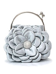 Handbag Luxurious Satin Evening Handbags/Clutches With Flower