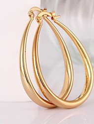 Earring Hoop Earrings Jewelry Women Brass 2pcs Silver