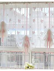 "un panel de 32 ""wx98"" l (82cmwx250cml) floral bordado multicolor botánico poli / borde perforado ropa de imitación pura / /"