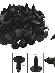 K027 100 Pcs Car Interior Panel Trim Clips Black Plastic Rivet