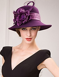 Women's Wool Headpiece-Special Occasion Hats Round
