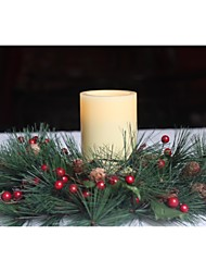 Home Impressions™ 3x5 Inch Flameless Real Wax Pilliar Led Candle With Timer,Battery-Operated,Ivory