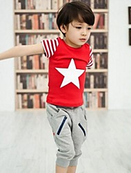 Boy's Fashion T-Shirts+Shorts Sets Lovely Summer Two Pieces Sports Sets Clothing Set