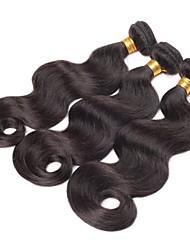 """3pcs / lot 20 """"brésilienne de cheveux naturelle vierge vague de corps noir de cheveux humains tissage trame brute"""