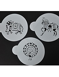 Four-C ferramentas de decoração stencils café e chocolate chocolate, stencils bolo de spray, stencils decoração fondant