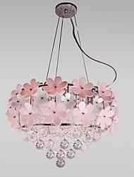 pingente de cristal maishang® luxo luz moderno vivendo 3 luzes