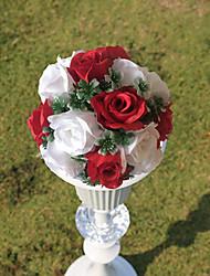 """9.8 paño de seda """"estilo rural bola roja flor de la simulación bola blanca flor decorativa"""