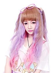 Perruques de lolita Punk Dégradé de Couleur Perruque Lolita  50 CM Perruques de Cosplay Mosaïque Perruque Pour