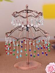 double-pont organisateurs pendentifs parapluie métalliques plateau de bijoux