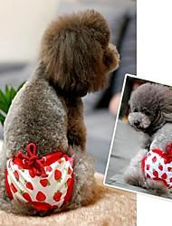 niedlichen roten Erdbeere über weißem Prinzessin stilvolle Sanitär Hosen für Haustiere Hunde