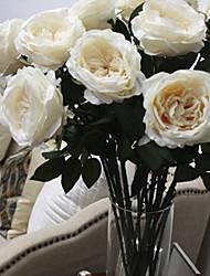 "30""L Italian Rose Silk Cloth Flowers Cream"