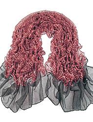 Women Red Gray Voile Scarves Bali Yarn Scarf Shawls