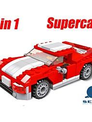 Kinder pädagogische Lernspielzeug Bausteine Rennwagen lustige Spielzeug