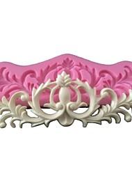3D Flower Vine Icing Sugar Fondant Cake Border Mold Wedding Cake Decorating Mould Silicone Cake Mold