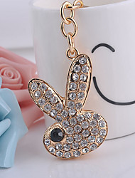 The Lovely Rabbit Diamond Keychain