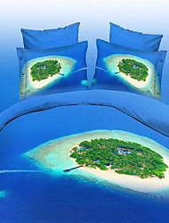 Shuian®3D Floral Queen Size Bedding Sets Duvet Cover Bed Sheet Set Bed In A Bag