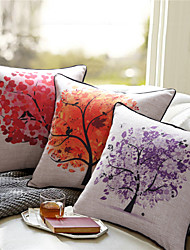Linen Cotton Printing Tree Cushion
