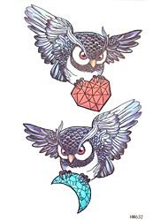5Pcs Waterproof Owl Pattern Tattoo Stickers
