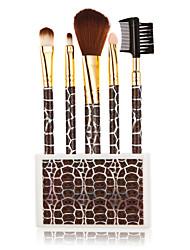5pcs Newfashioned Tortoise Shell Grain Cosmetic Brushes Make-up Kit