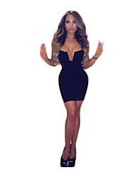 Women'S Hot V-Neck Fashion Solid Spaghetti Strap Slim Fit Bodycon Women Night Club Mini Dresses Women Clothing