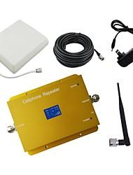 Nouvel écran LCD 3g980 2100MHz amplificateur de signal de mobile mobile avec fouet et antenne de panneau kit