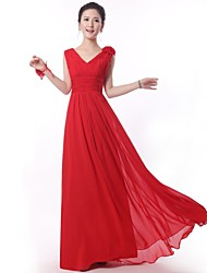 Floor-length Bridesmaid Dress A-line Straps