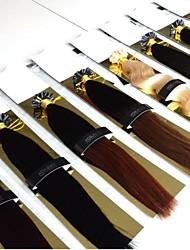 "100pcs 12-26"" Brazilian Virgin Hair U Tip Fusion Hair Extension Nail U Tip Hair Extensions Keratin Fusion"