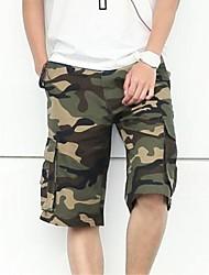 Shorts ( Grün/Grau , Baumwolle ) - für Freizeit - für MEN - Bedruckt