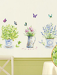 Environmental Removable Butterfly And Vase PVC Tags & Sticker
