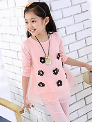 Girl's Fashion Clothing Sets(Print Blouse & Vest & Legging)