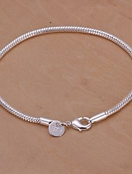 Bracelet Charmes pour Bracelets Plaqué argent Mariage / Soirée / Quotidien / Décontracté Bijoux Cadeau Argent,1pc
