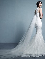 Trumpet/Mermaid Sweep/Brush Train Wedding Dress -Bateau Tulle