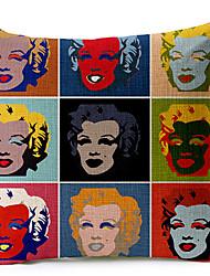 Классический Мэрилин Монро 1954 рисунком хлопок / лен декоративная подушка крышка