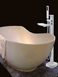 Grifo de ducha/Grifodebañera - Contemporáneo - Alcachofa incluida/De pie - Latón ( Cromo )