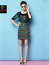 YIMILAN® Women's The New Spring And Summer 2015 Fashion Unique High Waisted Skinny Dress