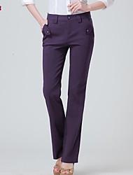 Women's Black/Brown/Purple Straight Pants , Work