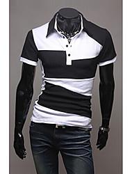 Nicholas  Men's Casual Shirt Collar Short Sleeve T-Shirts