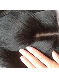Silk Base Closure 18Inch Straight Malaysian Virgin Hair Closures Silk Base Middle Part Natural Colour Human Hair Piece