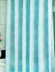 Modern Blue Shell Waterproof Polyester Shower Curtain