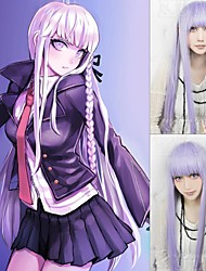Angelaicos Women Danganronpa Kyoko Kirigiri Girls Lolita Long Mixed Purple Straight Braids Halloween Costume Cosplay Wig