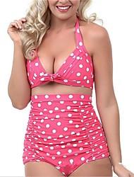 Women Nylon/Polyester Halter Bikinis