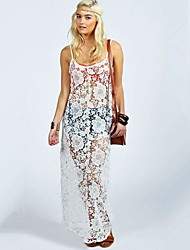 Women's Casual Seeveless Maxi Beach Dress (Lace)