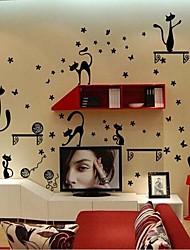 gatti rimovibili a forma di tv sfondo / camera da letto / autoadesivo della parete soggiorno