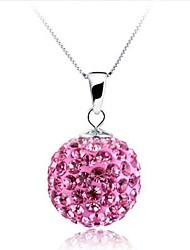 Ladies' Silver Ball Rhinestone Necklace