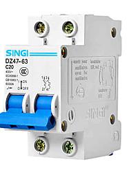 DZ47-63 2p20a RCCB résiduelle disjoncteur à courant