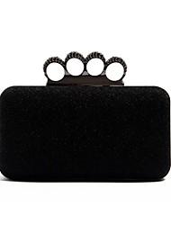 Ladies Stylish Black Evening Clutch Hand Bag