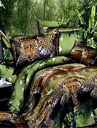 Hause Bettwäsche-Sets 3D großen Druckbettwäschesätze Duvetabdeckung flaches Blatt Kissenbezug