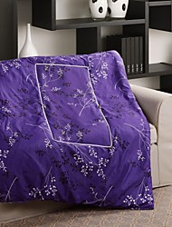 Purple/Multi Color 100% Synthetic Microfiber Twin Comforter